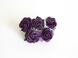 Средние розы 2,5 см - Фиолетовые. Fierahobby.ru