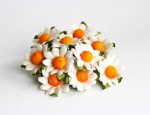Ромашки белые 2,5 см. Fierahobby.ru