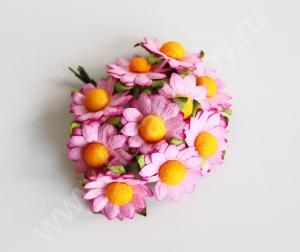Ромашки розовые 2,5 см. Fierahobby.ru